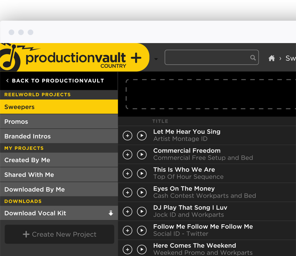 ReelWorld | Production Vault